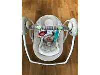 Ingenuity Swing 'n Go Portable Baby Swing (Cozy Kingdom). AS NEW with box- £40 ono