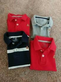 4 Gap polo shirts 18-24months