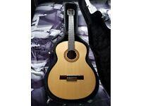 Merida Trajan T-5 classical guitar and Stagg hard case, beautiful guitar
