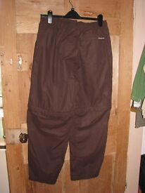 Craghoppers Walking Trousers (women's size 16) - Brown