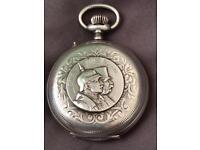 WW1 German silver pocket watch