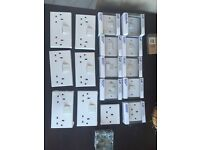 White switches and sockets front cases. Job lot perfect working condition BARGAIN