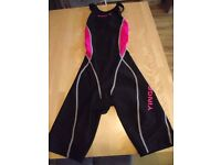 Yingfa - Girls Kneesuit Black/Pink