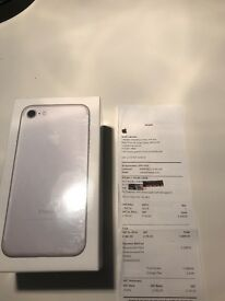 Apple iPhone 7 silver 128gb bought today