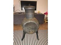 Small Cast Chimenea Only used Twice - Nice and Compact