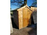 8FT X 6FT MANGHAM APEX FULLY FRAMED TONGUE & GROOVE GARDEN SHED ONLY £399 INC DELIVERY & FITTING