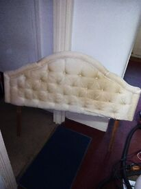 double bed headboard. fancy with legs,cash on collection leyton e10 5qn