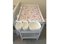 Ikea baby changing table with accessories - very good condition