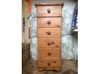 Solid Pine 6 drawer unit (Bristol BS8)