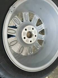 Micheline tyre and audi alloy