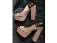 Baby pink new look heels size 3