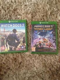 Watch_Dogs 2. And Minecraft story mode Xbox One