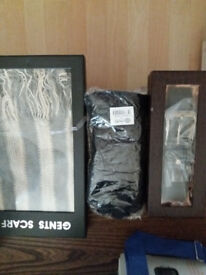 mens scarf gloves and belt new boxed