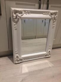 White cream bow mirror 28 x 24 inch