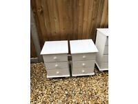 Bedside tables and chest of drawers