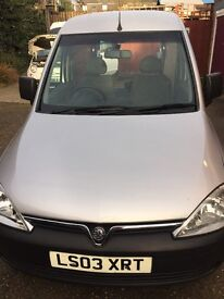 2003 vauxhall combo van silver 74000 1 owner excellent condition