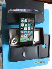 Apple iphone 5 -16gb black&grey smartphone Boxed on EE,Orange,Virgin,Bt, Asda&Plusnet Very Good Cond