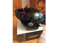 Roof boxer V8 helmet!! Gloss black!! Helmets-gilera runner-typhoon