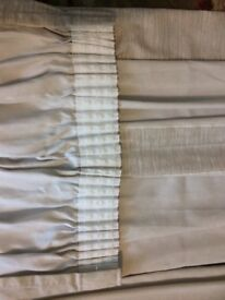 Pair of. BEIGE Cotton CURTAINS for sale