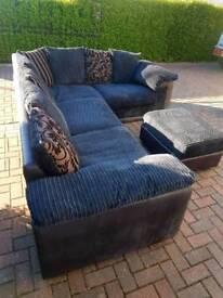 Dfs Black Corner Sofa del available