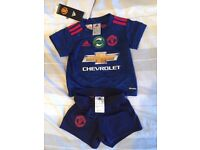 Adidas Manchester United blue away kit 2016/17 INFANT 3-6MONTHS