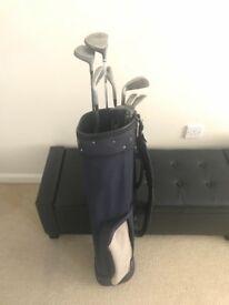 Set Of Mixed Golf Clubs & Bag