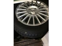 Vauxhall. Alloy wheels. And tyres. 15 inch