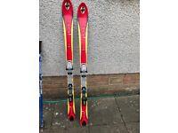 K2 136cm kids skis. Scott poles.