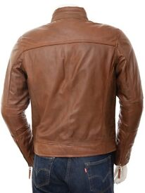 n's Leather Jacket best for Summer/Autumn 100% pure super soft sheep leather Size- Medium (94-99cm)