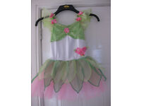 FLOWER FAIRY LEOTARD DRESS + fitted bodice WORN TWICE for dance show £35 Age 6-9yr BEAUTIFUL REDUCED