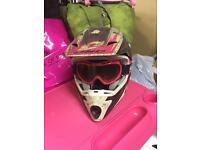 Ladies motocross helmet