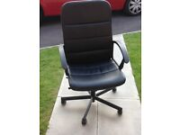 IKEA Torkel Office Chair Black Swivel high back Adjustable Great condition £20 ONO RRP £35