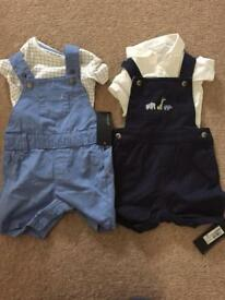 Two autograph dungaree set