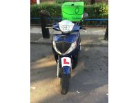 Honda sh125, with 2 keys, log book, MOT and delivery box.