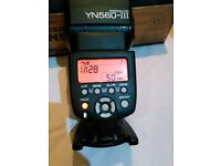Yongnuo Speedlite YN560-III, also 2x RF-603N triggers