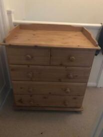 Solid pine drawers and mirror