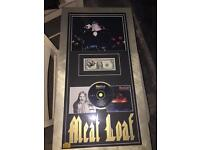 Meatloaf signed picture frame. Fully authentic.