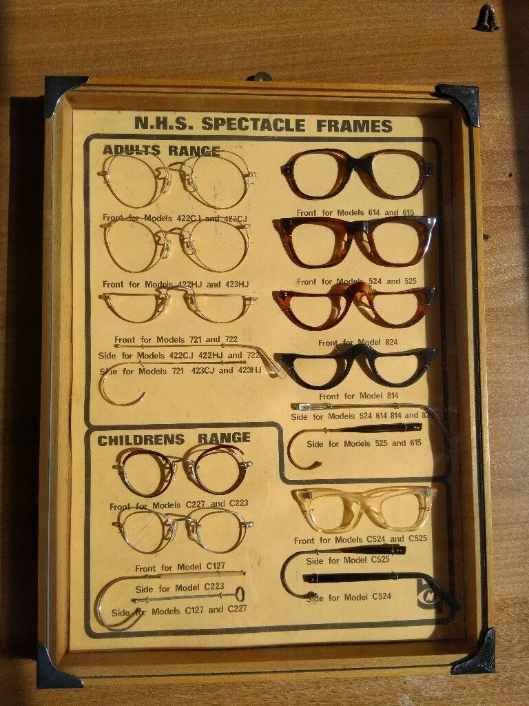 d615e3dfff5 Antique NHS Spectacles Display Sign - Rare Collectors Optical Frames 1920s  1930s