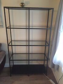 Ikea glass/metal shelves