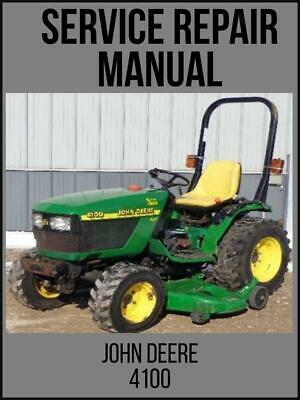 John Deere 4100 Compact Utility Tractor Service Technical Manual Tm1630 Usb