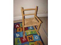 Wooden rocking children's chair