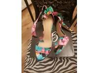 Shoe box high heels .size 8...worn