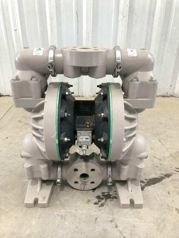 "Ingersoll Rand ARO 3661U3-344-L 1-1/2"" PP Double Diaphragm Pump 120PSI"