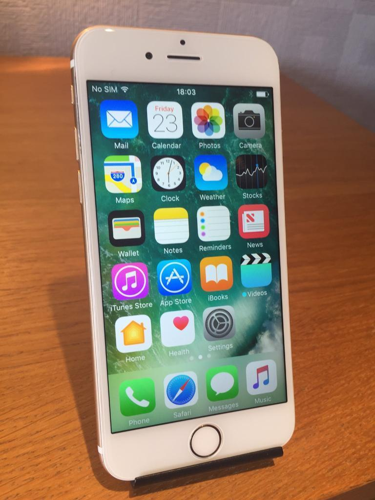 APPLE IPHONE 6 GOLD 16GB O2/GIFFGAFFin Barry, Vale of GlamorganGumtree - APPLE IPHONE 6 GOLD 16GB. Comes with USB cable. Can be used on O2/Tesco/Giffgaff networks. Good condition (please see pictures). Full working order. £170 for a quick sale. No offers on price.Collection from Barry area or can deliver for an extra...