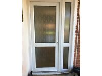 Double glazed upvc front door and side window