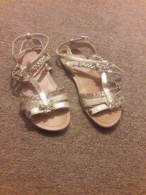 girls gold summer sandels size 13 *good condition*