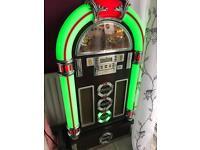 Steepletone rock zero 50 jukebox and stand