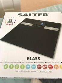 Brand New Salter Glass Bathroom scales