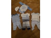 Boy baby clothes bundle, mothercare new baby tshirts and bottoms