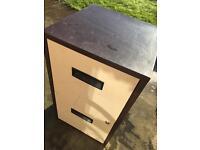 2 drawer filing cabinet no key